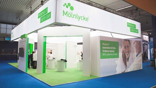 Booth at Mölnlycke event